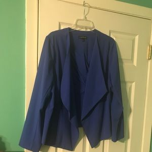 Never been word blue blazer